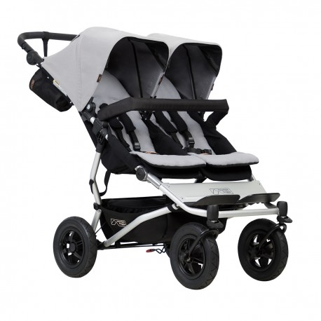CARRO GEMELAR  MOUNTAIN BUGGY DUET 3.0 SILVER