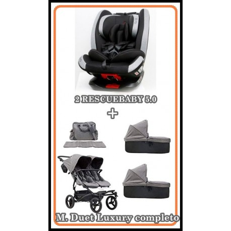 PACK MOUNTAIN BUGGY DUET LUXURY CON RESCUEBABY 5.0