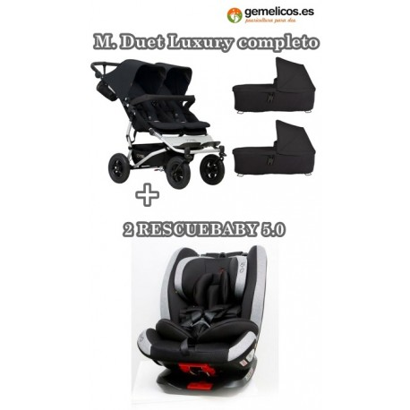 PACK MOUNTAIN BUGGY DUET 3.0 CON RESCUEBABY 5.0