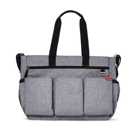 BOLSO GEMELAR SKIP HOP DOUBLE HEATHER GREY